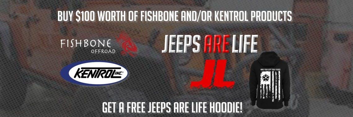 $100 Fishbone/Kentrol - Jeeps Are Life Hoodie