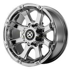 "ATX SERIES AX18878012235 - ATX LEDGE Wheel Chrome, 17"" X 8"" 5X4.5 Bolt Pattern, Back Spacing 5.9"""