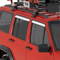 Auto Ventshade AVS-14412 Jeep Cherokee Ventshade with Stainless Steel Finish, 4-Piece Set