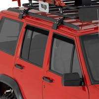 Auto Ventshade AVS-92111 Jeep Cherokee Original Ventvisor Side Window Deflector Dark Smoke, 2-Piece Set