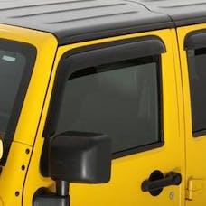 Auto Ventshade AVS-92328 - Original Ventvisor Side Window Deflector Dark Smoke, 2-Piece Set for 2007-2018 Jeep Wrangler JK