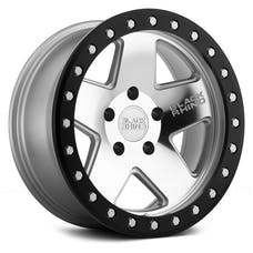 Black Rhino Wheels 1785CRL-25127S71 - Crawler Beadlock Wheel 17x8.5 5x5 Silver w/Black Lip