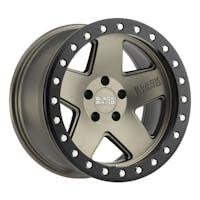 Black Rhino Wheels 1785CRL-25127Z71 - Crawler Beadlock Wheel 17x8.5 5x5 Matte Bronze W/Black Lip