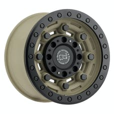 Black Rhino Wheels 1785GAR-25127D71 - Garrison Beadlock Wheel 17x8.5 5x5 Desert Sand