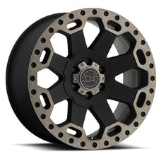 Black Rhino Wheels 1790WAR-25127M71 - Warlord Wheel 17x9 5x5 Matte Black w/Dark Tint Lip