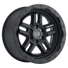 "Black Rhino 1795BTW-85127M71 - Barstow Wheel - 17""x9.5"", Bolt Pattern 5x5"", Backspacing 4.56"", Offset -18 - Textured Matte Black"