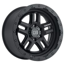 "Black Rhino 2095BTW-85127M71 - Barstow Wheel - 20""x9.5"", Bolt Pattern 5x5"", Backspacing 4.56"", Offset -18 - Textured Matte Black"