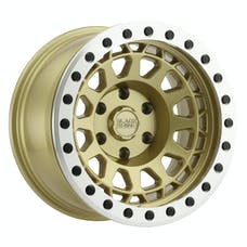 BLACK RHINO 1785PRM-85127L71 - PRIMM BEADLOCK - MATTE GOLD W/MACHINED RING & BLACK BOLTS - 17X8.5 SIZE, 5X127 BOLT PATTERN, -38 OFFSET, 3.25 BACKSPACE