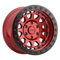 BLACK RHINO 1785PRM-85127R71 - PRIMM BEADLOCK - CANDY RED W/BLACK RING & BLACK BOLTS - 17X8.5 SIZE, 5X127 BOLT PATTERN, -38 OFFSET, 3.25 BACKSPACE