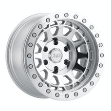 BLACK RHINO 1785PRM-88165S25 - PRIMM BEADLOCK - SILVER W/MIRROR FACE & SILVER BOLTS - 17X8.5 SIZE, 8X165.10 BOLT PATTERN, -38 OFFSET, 3.25 BACKSPACE