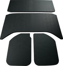 Boom Mats 050159 - Leather Look Jeep Wrangler Sound Deadening Headliner - BLACK - 11-18 JEEP JKU