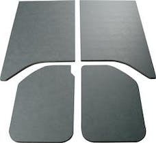 Boom Mats 050162 - Leather Look Jeep Wrangler Sound Deadening Headliner - GRAY - 11-18 JEEP JK
