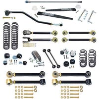Currie CE-9801HS Jeep Wrangler TJ Johnny Joint 4 Inch Suspension System W/Antirock And Double Adjustable Upper Arms For Up To 35 Inch Tires