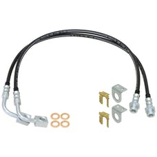 Currie CE-9807FBLK Jeep Wrangler JK Braided Brake Line Kit From CE-9807 Lift Kits For Front Or Rear W/Stock Sway Bar Or Front W/Antirock