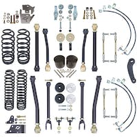 Currie CE-9807 Jeep Wrangler JKU 4 Inch Off Road Suspension System W/Adjustable Front And Rear Sway Bar Links For Up To 37 Inch Tires