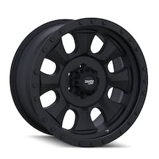 "Dirty Life 9300-2973MBN - Ironman 9300 Series Wheel, 20""x9"", 5x5 Bolt Pattern, 5"" Back Spacing - Matte Black/Black Beadlock"