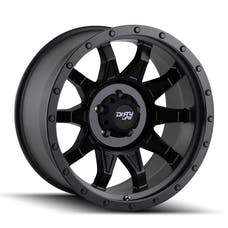 "Dirty Life 9301-7885MB6N - Roadkill 9301 Series Wheel, 17""x8.5"", 5x5.5 Bolt Pattern, 4.5"" Back Spacing - Matte Black/Black Beadlock"