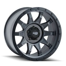 "Dirty Life 9301-7885MG6N - Roadkill 9301 Series Wheel, 17""x8.5"", 5x5.5 Bolt Pattern, 4.5"" Back Spacing - Matte Gunmetal/Black Beadlock"