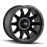 "Dirty Life 9301-8985MB12N - Roadkill 9301 Series Wheel, 18""x9"", 5x5.5 Bolt Pattern, 4"" Back Spacing - Matte Black/Black Beadlock"