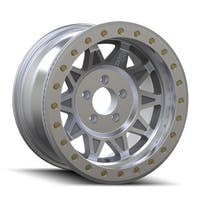 "Dirty Life 9302-7965M14 - Roadkill 9302 Series Wheel, 17""x9"", 5x4.5 Bolt Pattern, 4.45"" Back Spacing - Machined Beadlock"