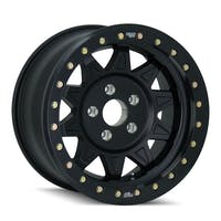 "Dirty Life 9302-7965MB14 - Roadkill 9302 Series Wheel, 17""x9"", 5x4.5 Bolt Pattern, 4.45"" Back Spacing - Matte Black/Black Beadlock"