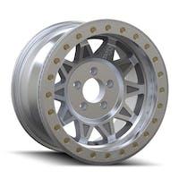 "Dirty Life 9302-7973M14 - Roadkill Race 9302 Series Wheel, 17""x9"", 5x5 Bolt Pattern, 4.45"" Back Spacing - Machined Beadlock"
