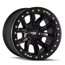 "Dirty Life 9303-7973MB12 - DT-1 9303 Series Wheel, 17""x9"", 5x5 Bolt Pattern, 4.53"" Back Spacing - Matte Black"