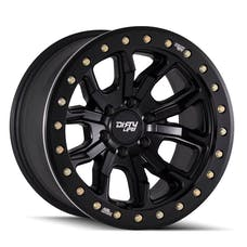 "Dirty Life 9303-7973MB38 - DT-1 9303 Series Wheel, 17""x9"", 5x5 Bolt Pattern, 3.5"" Back Spacing - Matte Black"