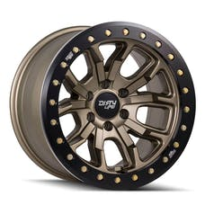 "Dirty Life 9303-7973MGD12 - DT-1 9303 Series Wheel, 17""x9"", 5x5 Bolt Pattern, 4.53"" Back Spacing - Matte Gold"