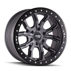 "Dirty Life 9303-7973MGT12 - DT-1 9303 Series Wheel, 17""x9"", 5x5 Bolt Pattern, 4.53"" Back Spacing - Matte Gunmetal"