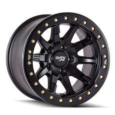 "Dirty Life 9304-7973MB12 - DT-2 9304 Series Wheel, 17""x9"", 5x5 Bolt Pattern, 4.53"" Back Spacing - Matte Black"