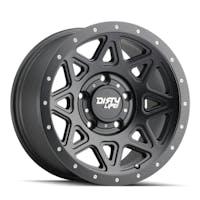 "DIRTY LIFE 9305-2973MB - Theory 9305 Series Wheel, 20x9"", 5x5"" Bolt Pattern, 5"" Back Spacing - Matte Black"