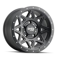 "DIRTY LIFE 9305-7973MB - Theory 9305 Series Wheel, 17x9"", 5x5"" Bolt Pattern, 4.53"" Back Spacing - Matte Black"