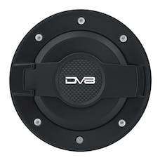 DV8 Offroad D-JP-190004-BLK JEEP JK FUEL DOOR-BLACK/SILVER
