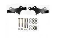 EVO Manufacturing EVO-3027B Jeep Wrangler JL Protek Front Shock Relocation Brackets Black