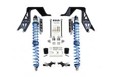 EVO Manufacturing EVO-3028BA - Jeep JL NV2514 Front Bolt-on Coilover Kit 18-Pres Wrangler JL 2/4 Door w/ Comp Adjuster Black