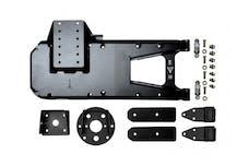 EVO Manufacturing EVO-3032B - Jeep JL HD Hinge Tire Carrier 18-Present Wrangler JL Black Powdercoat