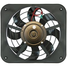 Flex-A-Lite 133 - 12 1/8 Inch Lo-Profile S-Blade Pusher Electric Radiator Fan 8 Blade W/Adjustable Thermostat Controller