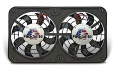 Flex-A-Lite 410 - Dual 12 1/8 Inch Lo-Profile S-Blade Electric Radiator Fan 8 Blade W/Variable Speed Controller