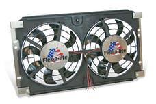 Flex-A-Lite 583 - Direct Fit Lo-Profile S-Blade Dual Electric Radiator Fan System 8 Blade 72-86 Jeep CJ