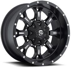 "Fuel Off-Road D51717905745 - Krank Series Wheel - 17""x9"" - Bolt Pattern 5x5"" - Backspacing 4.5"" - Offset -12 - Matte Black and Milled"