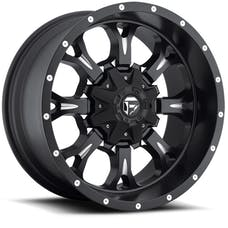 """Fuel Off-Road D51720002650 - Krank Series Wheel - 20""""x10"""" - Bolt Pattern 5x4.5"""" and 5x5"""" - Backspacing 5"""" - Offset -12 - Matte Black and Milled"""