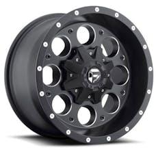 "Fuel Off-Road D52518902645 - Revolver D525 Series Wheel - 18""x9"" - Bolt Pattern 5x4.5"" and 5.5"" - Backspacing 4.5"" - Offset -12 - Black"