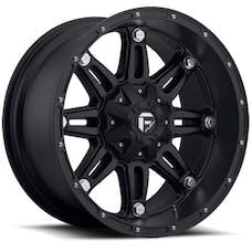 "Fuel Off-Road D53117902645 - Hostage Series Wheel -17""x9"" - Bolt Pattern 5x4.5"" and 5x5"" - Backspacing 4.5"" - Offset -12 - Matte Black"