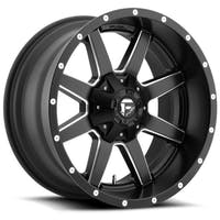 "Fuel Off-Road D53822000545 - Maverick Series Wheel - 22""x10"" - Bolt Pattern 5x5"" - Backspacing 4.5"" - Offset -24 - Black and Milled"