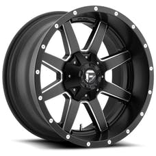 "Fuel Off-Road D53822005745 - Maverick Series Wheel - 22""x10"" - Bolt Pattern 5x5"" and 5x5.5"" - Backspacing 4.5"" - Offset -24 - Black and Milled"