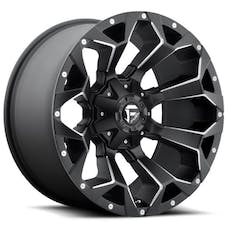 "Fuel Off-Road D54622002647 - Assault Wheel - 22""x10"" - Bolt Pattern 5x4.5"" & 5x5"" - Backspacing 4.75"" - Offset -18 - Black Milled"