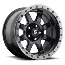 """Fuel Off-Road D55118007345 - Trophy Series Wheel - 18""""x10"""" -Bolt Pattern 5x5""""- Backspacing 4.5""""- Offset -24 Black with Anthracite Ring"""