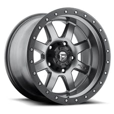 """Fuel Off-Road D55218007345 - Trophy Series Wheel - 18""""x10""""- Bolt Pattern 5x5""""- Backspacing 4.5""""- Offset -24 Anthracite with Black Ring"""