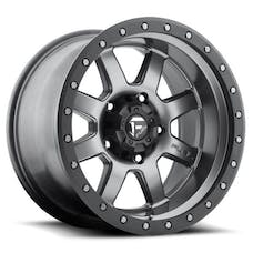 """Fuel Off-Road D55218907350 - Trophy Series Wheel - 18""""x9"""" - Bolt Pattern 5x5"""" - Backspacing 5"""" - Offset 1 - Anthracite with Black Ring"""